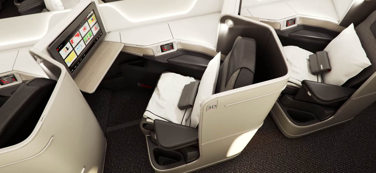 Air Canada business class seat