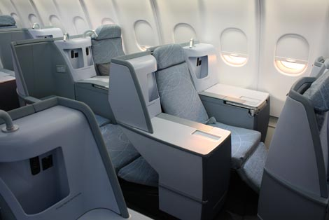 Finnair business class seat