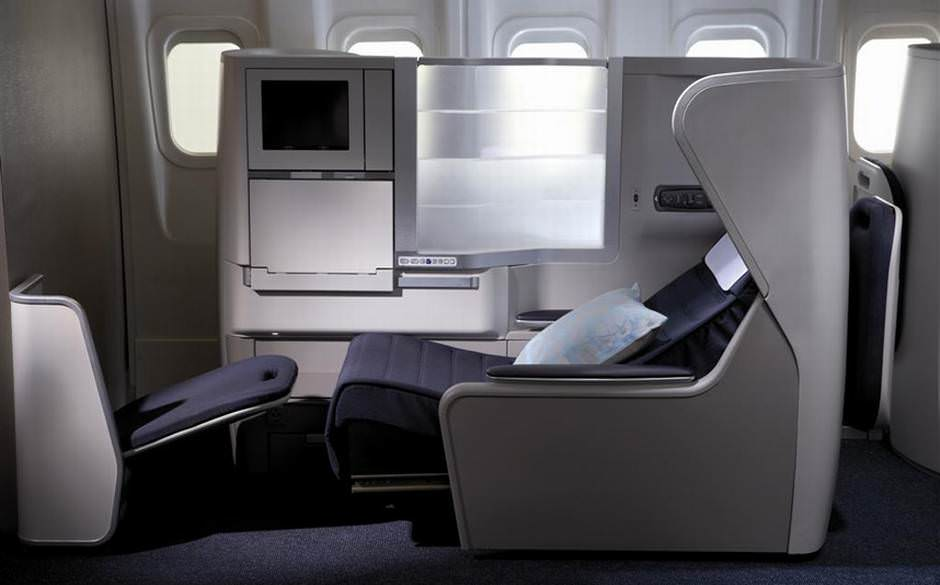British Airways business class seat