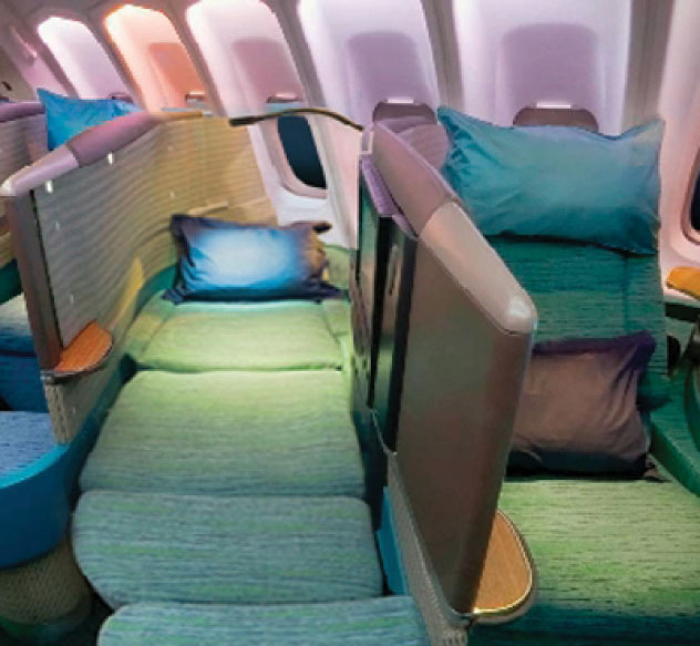 business class flights on Cathay Pacific