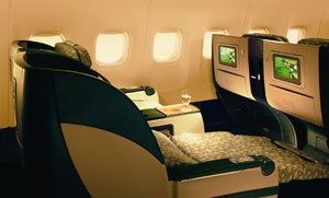business class on EVA Airways