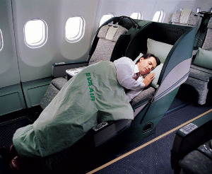 cheap business class on EVA Airways