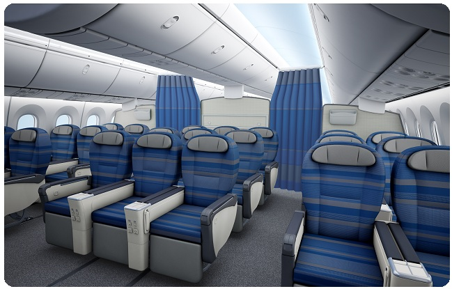 business class on Lot Polish Airlines Boing 787