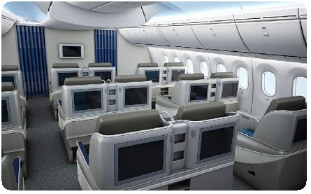 business class on Lot Polish Airlines Flight