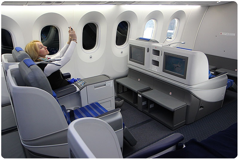 Lot business class seat