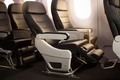 Air New Zealand economy plus seat