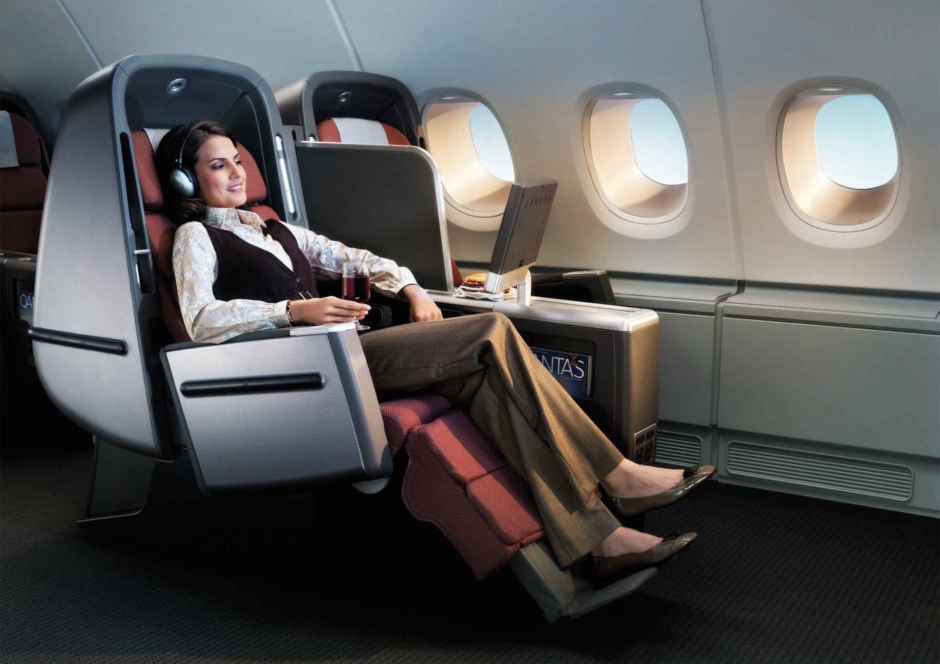 business class on Qantas Airlines