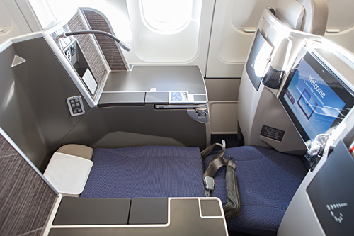 cheap business class on Brussels Airlines Side View with Entertaiment system