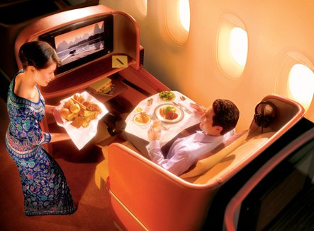 Business Class Gourmet Meals on Singapore Airlines