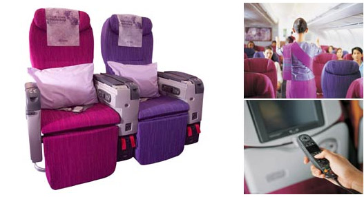 Thai Airways economy plus seat